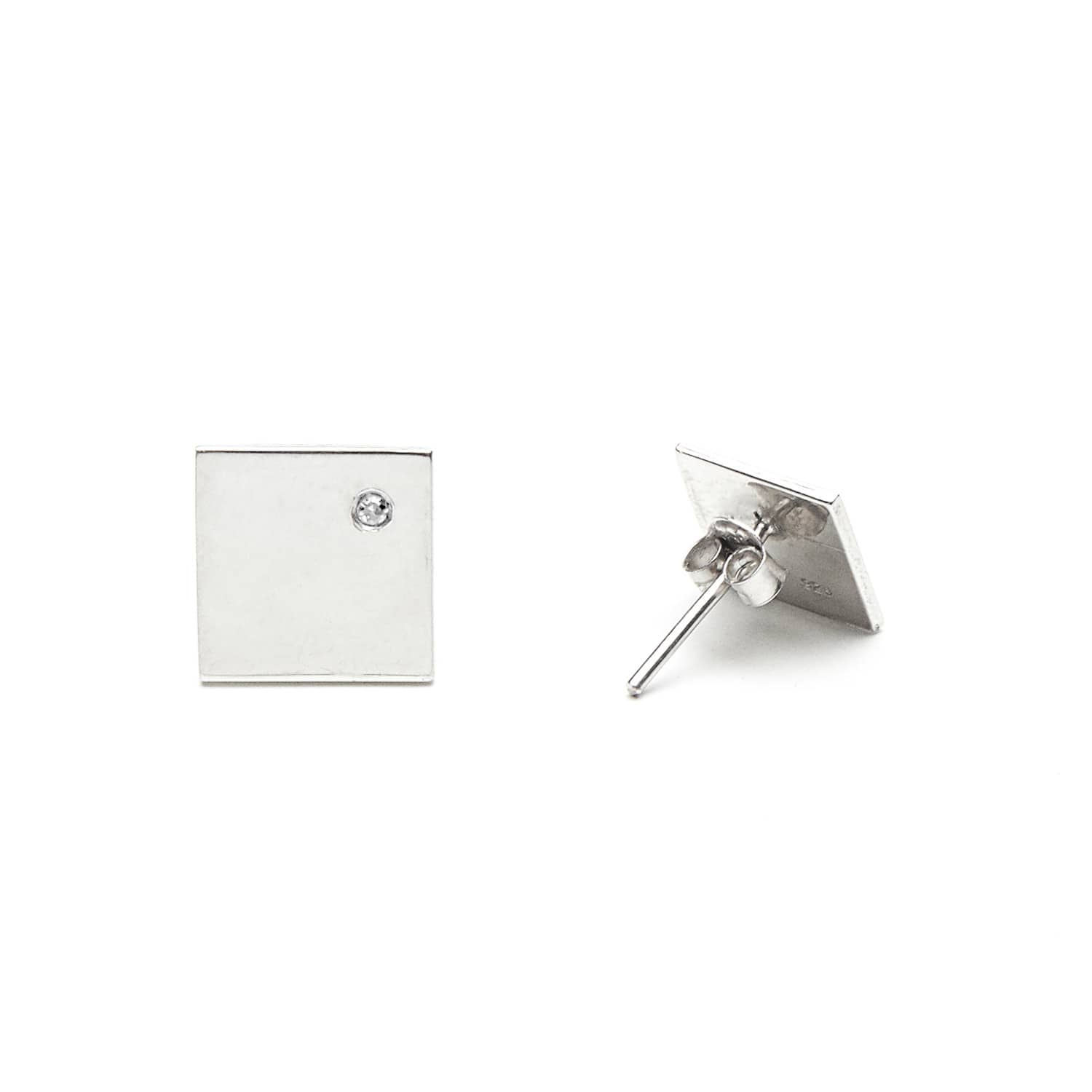 425d969ac Silver Square Studs   MSJ by Mira S Designs   Wolf & Badger
