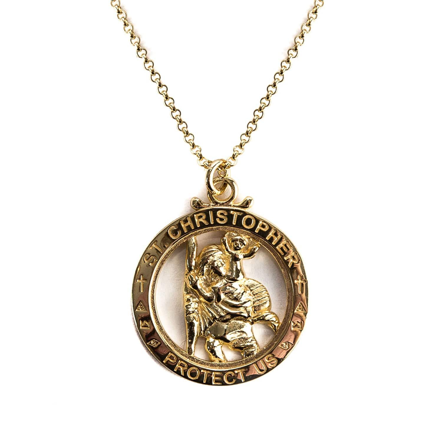 eb21748c7e9fd Gold St Christopher Necklace by Serge DeNimes