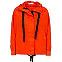Recycled Nylon Orange Hooded Windbreaker Jacket. image