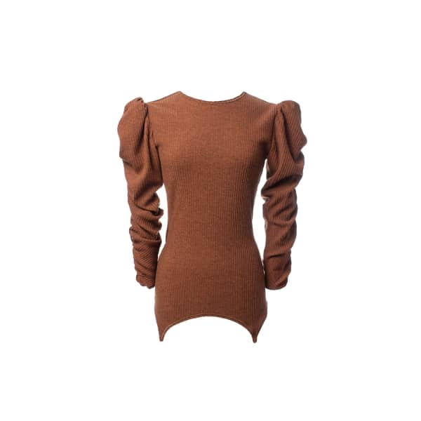 MUSÉE Knitted Jumper in Brown