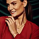 San Shi Peridot Bracelet 18 Ct Rose Gold Vermeil image