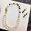 Freshwater Pearls With Smoky Quartz Double Strands Necklace image