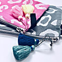 Grey Leopard Pouch With Tassels image