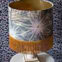 Breeze Fringed Lampshade Gold Metallic Lining Ceiling Or Table Lamp image