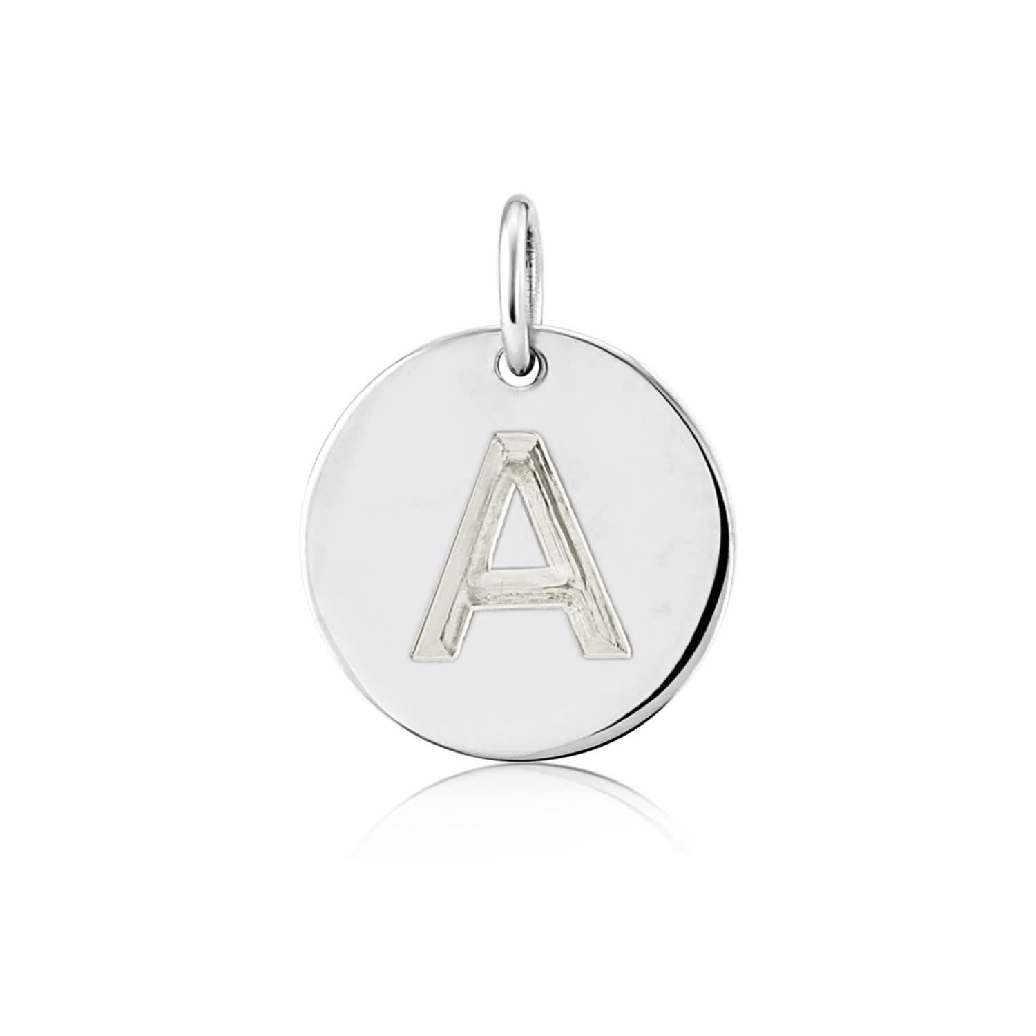 3ce5f08c6f6 Westbourne 9Ct White Gold Initial Disc Pendant | Auree Jewellery ...