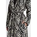 Sela Monochrome Jacquard Wool Blend Coat image