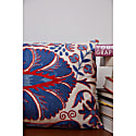 Babylon Long Suzani Ikat Double Sided Silk Heritage Design Cushion image