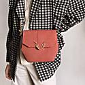 Roan Midi Vegan Crossbody Handbag - Rosewood image