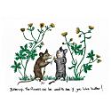 Buttercup Mice Print image