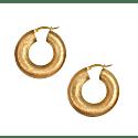 La Luxe Round Matt Hoops - Gold image
