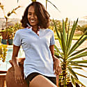 Light Blue Gusii Ladies Polo Top image