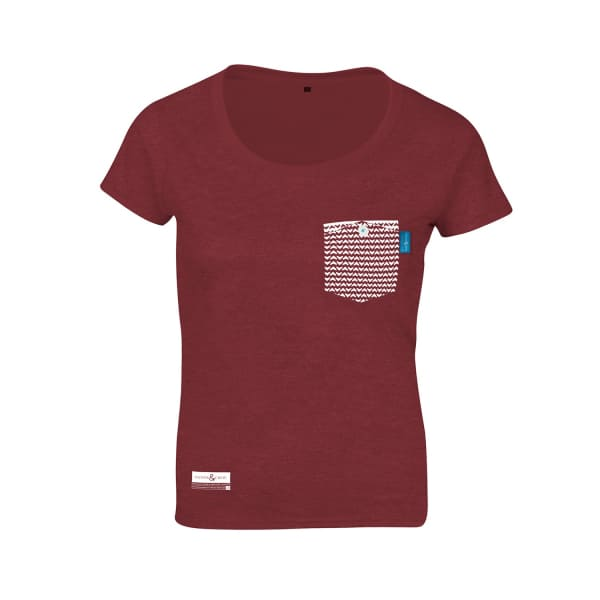 Anchor & Crew Fire Brick Red Marker Print Organic Cotton T-Shirt (Womens)