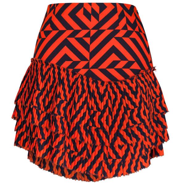 SIOBHAN MOLLOY Gracie Tiered Pleated Mini Skirt
