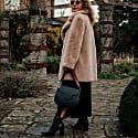 Elena Handmade Green & Burgundy Leather Handbag image