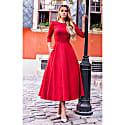 Jacquard Dress Alyzee Red image