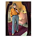 Kimono Shirt In 100% Saffron Irish Linen image
