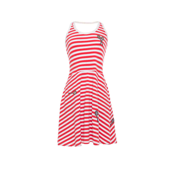 TOMCSANYI Lloyd Striped Tennis Dress