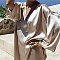 Yuna Silk Kaftan in Golden beige image