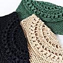 Cunda Crochet Clutch Bag in Black image
