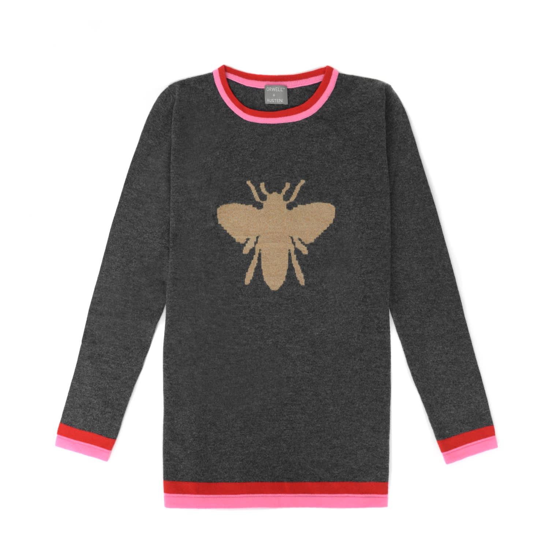 Bee Sweater In Dark Grey image 8deb7d039