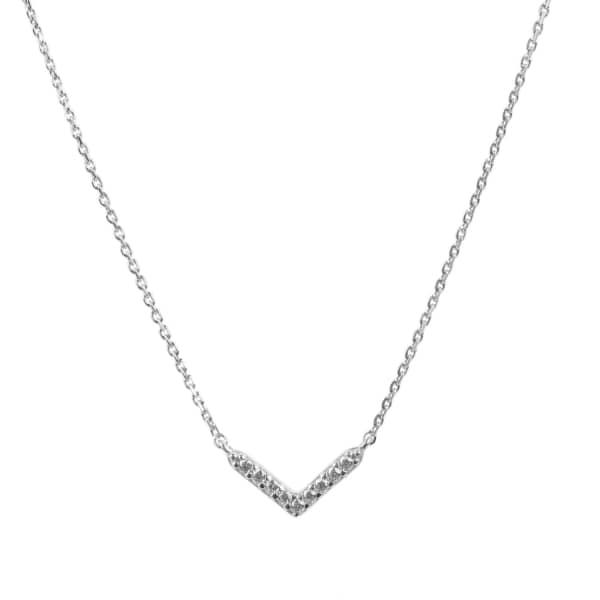 LATELITA LONDON Small Chevron Arrow Necklace Sterling Silver