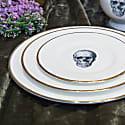 Skull Bone China Dinner Plate image