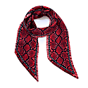 Snakeskin Silk Neck Scarf Red image