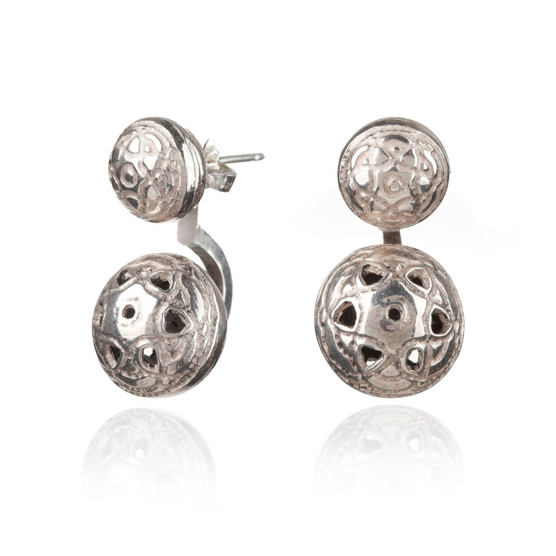 Silver Byzantine Twin Ear Jackets by Maro