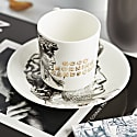 Good Morning Handsome Espresso Cup & Saucer image