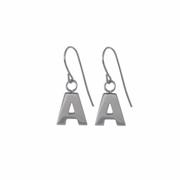EDGE ONLY Letter Earrings in Silver