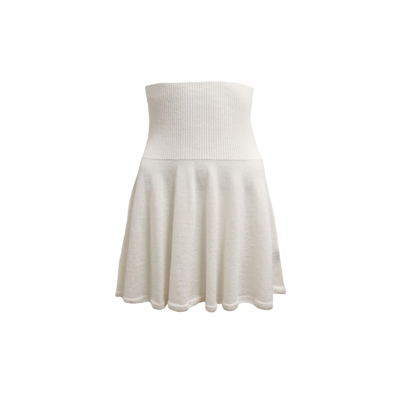 105c85213d Wool Mini Skirt In Ivory White | THE AVANT | Wolf & Badger