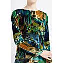 Backdrop Green Velvet Long Sleeve Midi Dress image