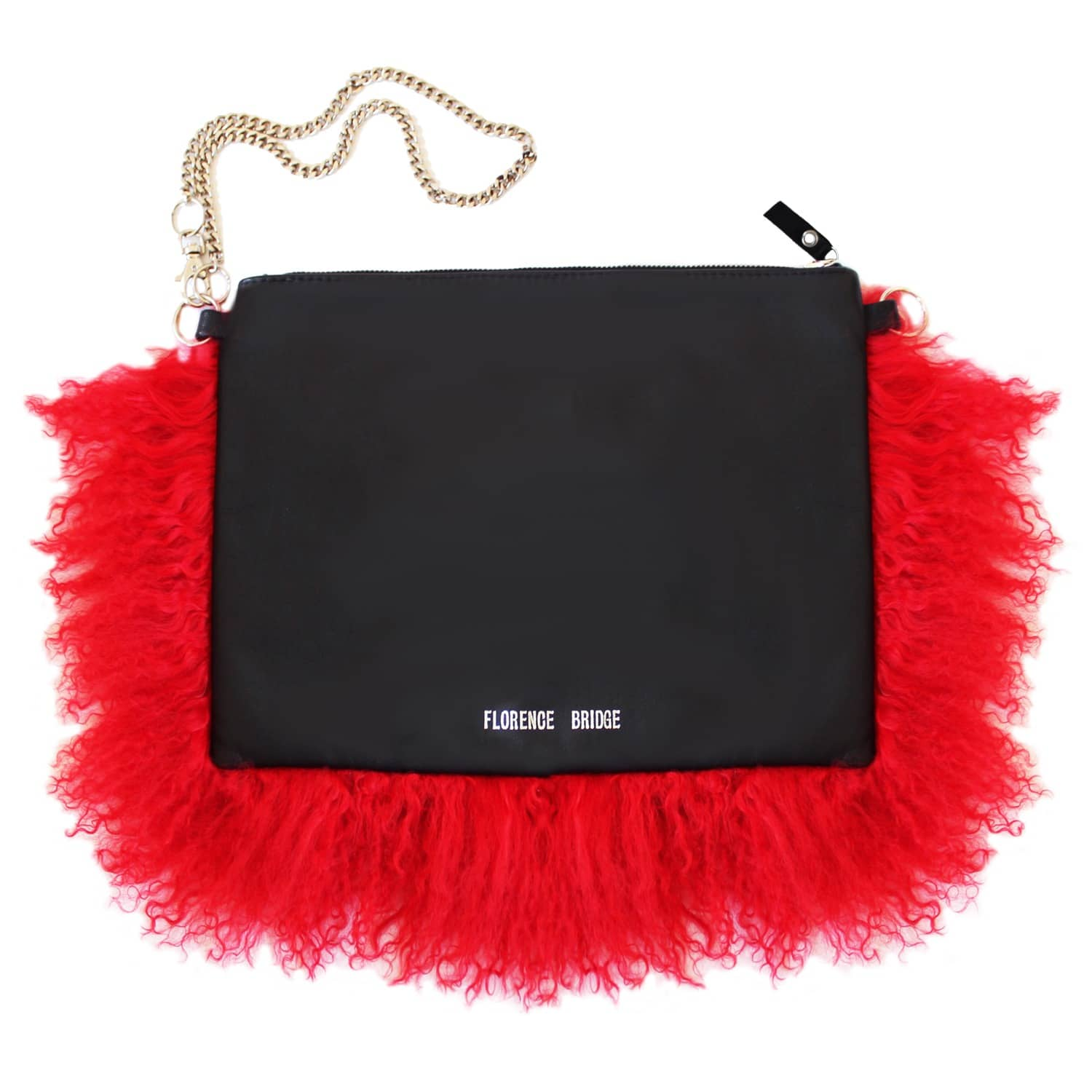 buy best lowest price size 40 Fluffy Bianca Clutch Bag Red by Florence Bridge