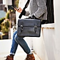 Luxe Black Leather Briefcase image