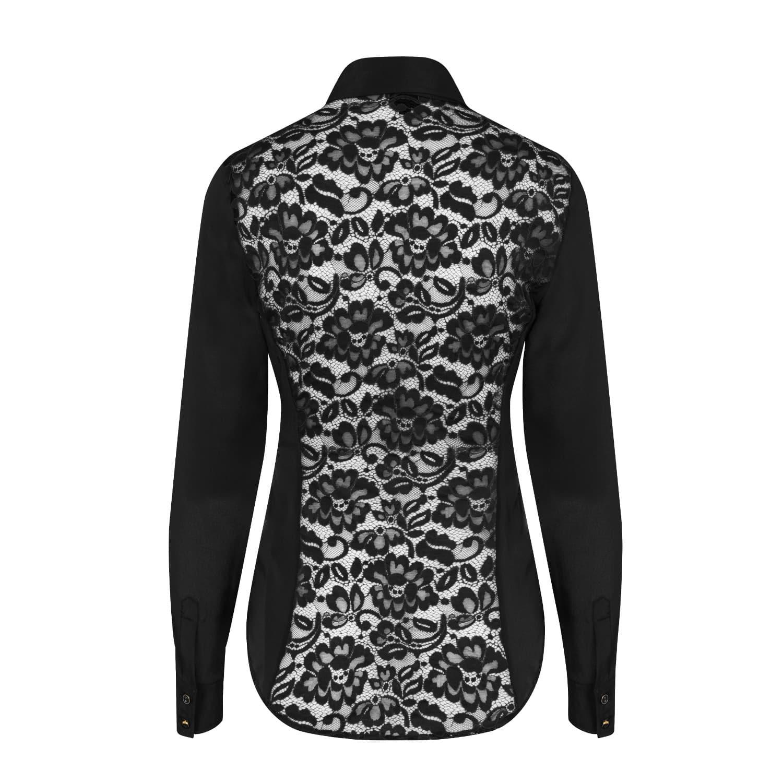 c0c8f65470a51b Black Fitted Silk Shirt image