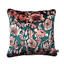 Opium Blush Teal Velvet Cushion image