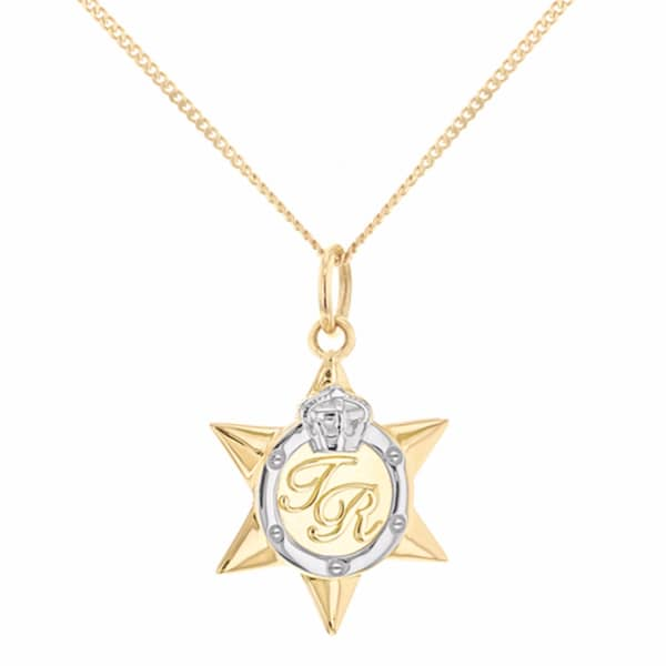 Mini Two Tone Star Medal Gold & Silver