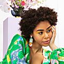 Arch Floret Earrings In Jade & Poppy image