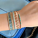 Mar Bracelet In Rose Gold And Turquoise image