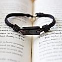 Aeon Bracelet - Black Baltic Amber & African Kudu image