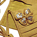Mustard Yellow - Gold Embellished Butterfly Face Mask image