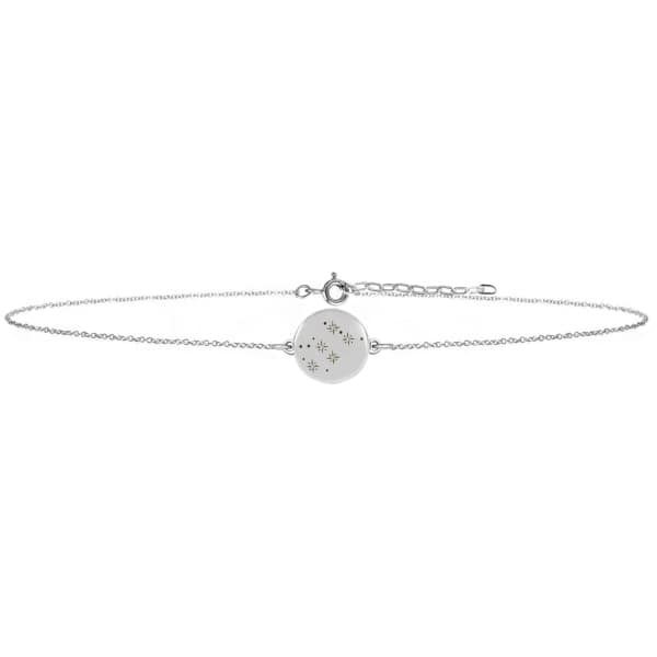 Aquarius Zodiac Constellation Choker Diamonds & Silver