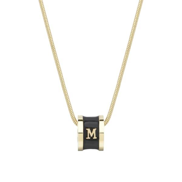 WHISTLE + BANGO Alphabet Necklace Black