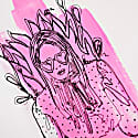 Pink Lady Limited Edition Hand Finished Screen Print image