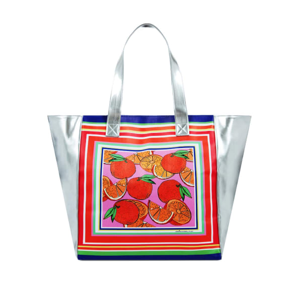 Jessica Russell Flint Beach Bag / 'Oranges'