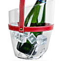 """Keep Your Cool"" Champagne Bucket - Red Leather Strap image"