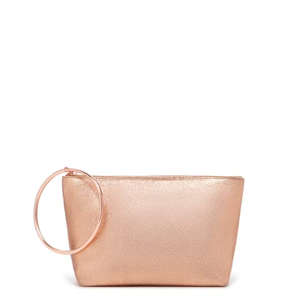 THACKER NEW YORK Large Ring Pouch In Rosegold in Gold