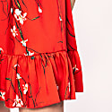 Red Floral Printed Dress image