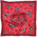 Queen Stag Beetle Red Pocket Square image