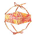 Red Java 3-Ply Batik Face Mask With Adjustable Ties image